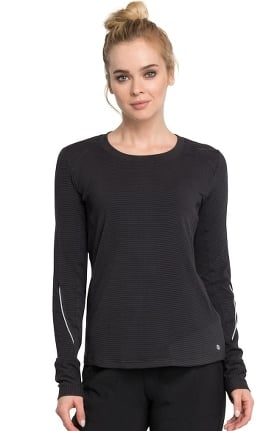 Clearance Infinity by Cherokee Women's Long Sleeve Solid Knit Underscrub T-Shirt