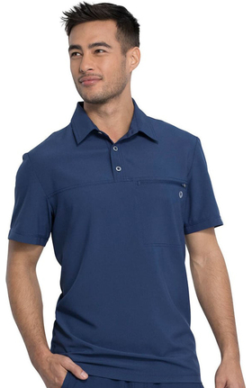 Infinity by Cherokee Men's Zip Polo Shirt