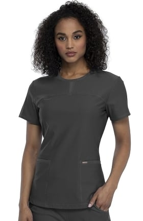 FORM by Cherokee Women's Crew Neck Solid Scrub Top