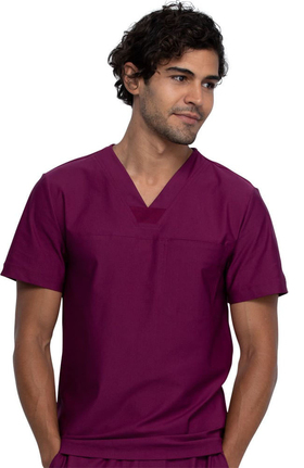 FORM by Cherokee Men's V-Neck Solid Scrub Top