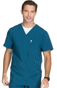 Infinity by Cherokee Men's V-Neck Solid Scrub Top