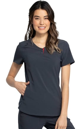 Clearance iflex featuring Katie Duke by Cherokee Women's V-Neck Solid Scrub Top