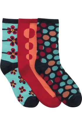 Footwear by Cherokee Women's Crew Socks 3 Pack