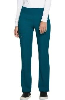 ELLE Women's Elastic Waistband Straight Leg Scrub Pant
