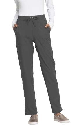 Clearance ELLE Women's Drawstring Waistband Tapered Scrub Pant