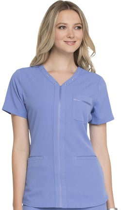 Clearance ELLE Women's V-Neck Solid Scrub Top