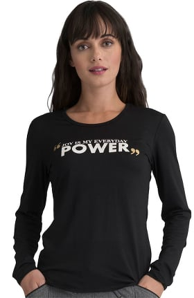 ELLE Women's Power Print Underscrub Tee