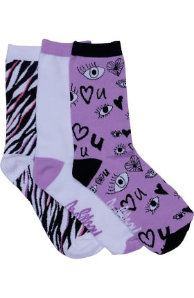 heartsoul Women's Eye Love U 3 Pack Socks