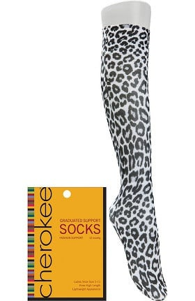 Footwear by Cherokee Women's Fashion 8-15 mmHg Compression Sock