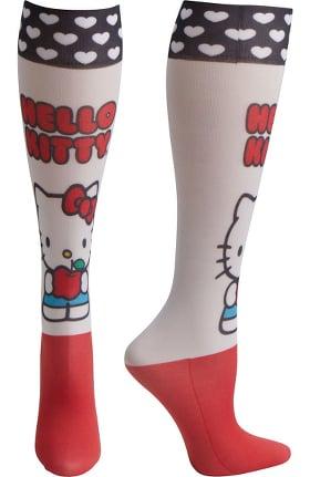 Footwear by Cherokee Women's Fashion 8-15 mmHg Hello Kitty Print Compression Sock