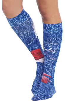 Footwear by Cherokee Women's 8-12 mmHg Under The Sea Print Compression Sock