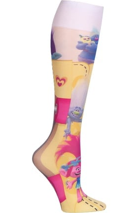 Footwear by Cherokee Women's Fashion 8-15 mmHg Party Socks Print Compression Sock