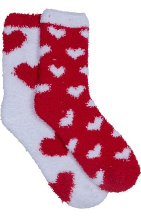 Clearance Footwear by Cherokee Women's 2 Pack Valentines Day Fuzzy Sock Gift Set