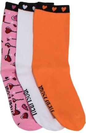 Clearance heartsoul Women's Crew Socks 3 Pack