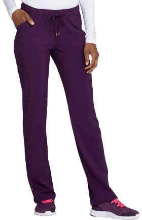 Clearance Love Always by heartsoul Women's Charmed Low Rise Drawstring Cargo Scrub Pant