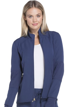 Break On Through by heartsoul Women's Zip Front Warm-Up Solid Scrub Jacket