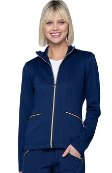 Love Always by heartsoul Women's Precious Solid Scrub Jacket