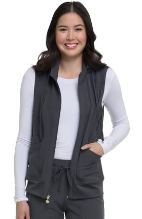 Break On Through by heartsoul Women's In-Vested Love Solid Scrub Vest
