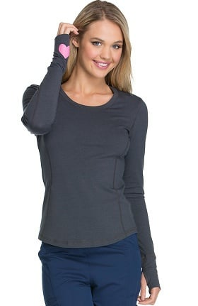 heartsoul Women's Long Sleeve Knit Solid T-Shirt