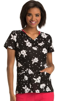 heartsoul Women's Sweetheart V-Neck Floral Print Top