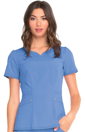 Love Always by heartsoul Women's V-Neck Solid Scrub Top