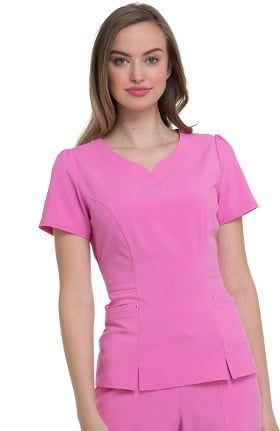 Clearance Love Always by heartsoul Women's V-Neck Solid Scrub Top