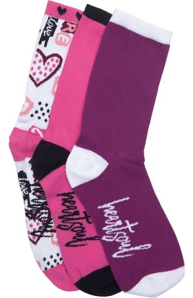 heartsoul Women's 3 Pack Crew Socks
