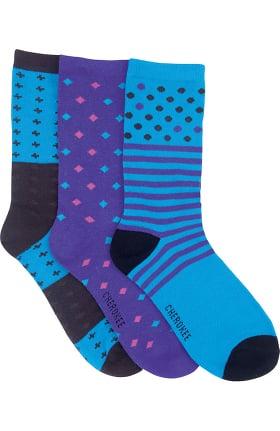 Footwear by Cherokee Women's Midnight Magic Crew Socks 3 Pack