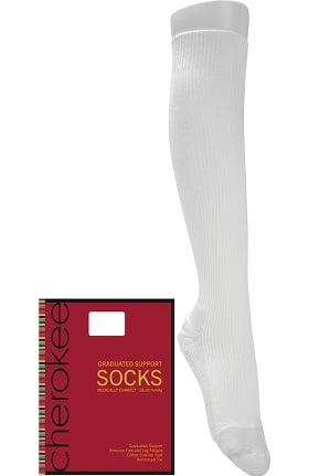Footwear by Cherokee Women's Medically Correct Socks with 18-21 mmHg Graduated Compression Hosiery