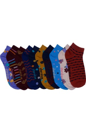 Footwear by Cherokee Women's 5 Pack Miss-Matched Print Sock Set