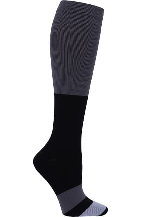 Footwear by Cherokee Men's Bold Chevron Print Compression Sock 12 Mmhg Sock