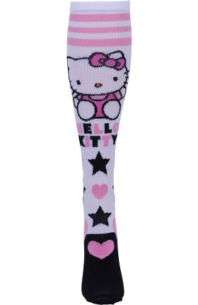 Footwear by Cherokee Women's 8-12 mmHg Hello Kitty Love Print Compression Sock