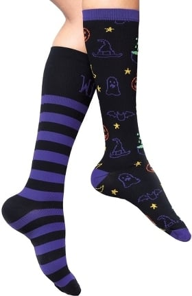 Footwear by Cherokee Women's Wicked Good Print Support Sock