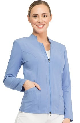 Clearance Sapphire Scrubs™ Women's Notched Solid Scrub Jacket