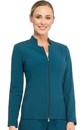 Sapphire Scrubs™ Women's Notched Solid Scrub Jacket