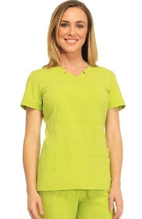 Clearance Sapphire Scrubs™ Women's Madison Mock Wrap Solid Scrub Top