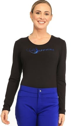 Clearance Sapphire Scrubs Women's Chelsea Long Sleeve Knit Underscrub