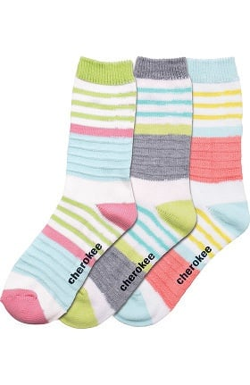 Footwear by Cherokee Women's Crew Socks 3 Pair Pack