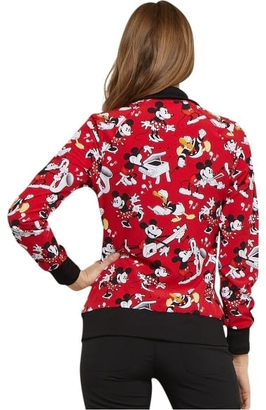 Clearance Tooniforms By Cherokee Women S Zip Front Mickey