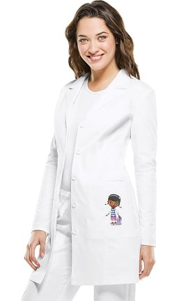 "Clearance Tooniforms by Cherokee Women's 33"" Doc Mc Stuffins Embroidered Lab Coat"