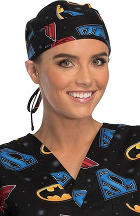 Tooniforms by Cherokee Unisex Justice League Print Scrub Hat