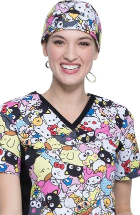 Tooniforms by Cherokee Unisex Gangs All Here Print Scrub Hat