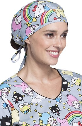 Tooniforms by Cherokee Unisex Hello Kitty Print Scrub Hat