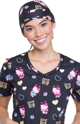 Tooniforms by Cherokee Women's Hello Kitty Print Scrub Hat