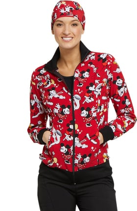 Tooniforms by Cherokee Unisex Mickey Mouse Print Scrub Hat