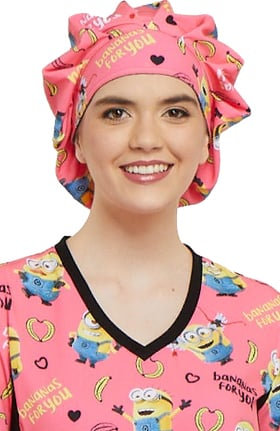 Clearance Tooniforms by Cherokee Women's Bouffant Minions Print Scrub Hat