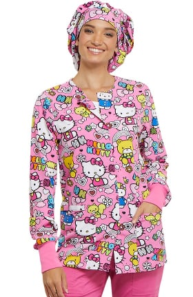 Tooniforms by Cherokee Unisex Bouffant Hello Kitty Print Scrub Hat