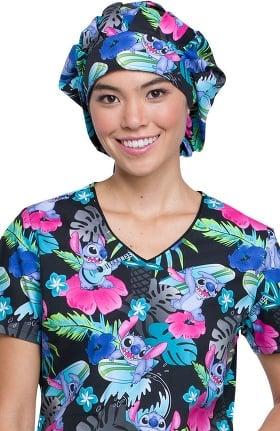 Tooniforms by Cherokee Unisex Lilo & Stitch Bouffant Scrub Hat
