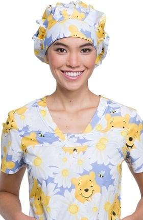 Tooniforms by Cherokee Unisex Winnie The Pooh Bouffant Scrub Hat