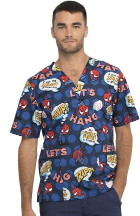 Clearance Tooniforms by Cherokee Unisex I'm Amazing Print Scrub Top